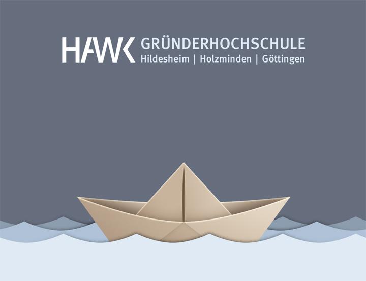 HAWK fliegt Logo-Entwurf - Papierboot