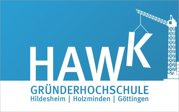 HAWK fliegt Logo-Entwurf - Kran