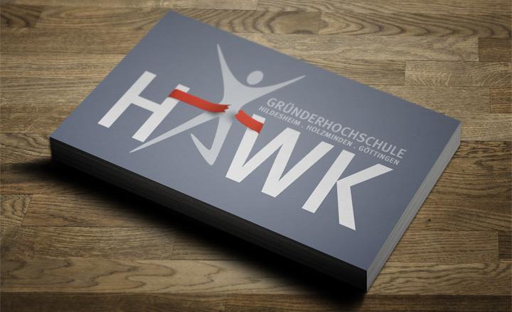 HAWK fliegt Visitenkarten-Entwurf - Sportler