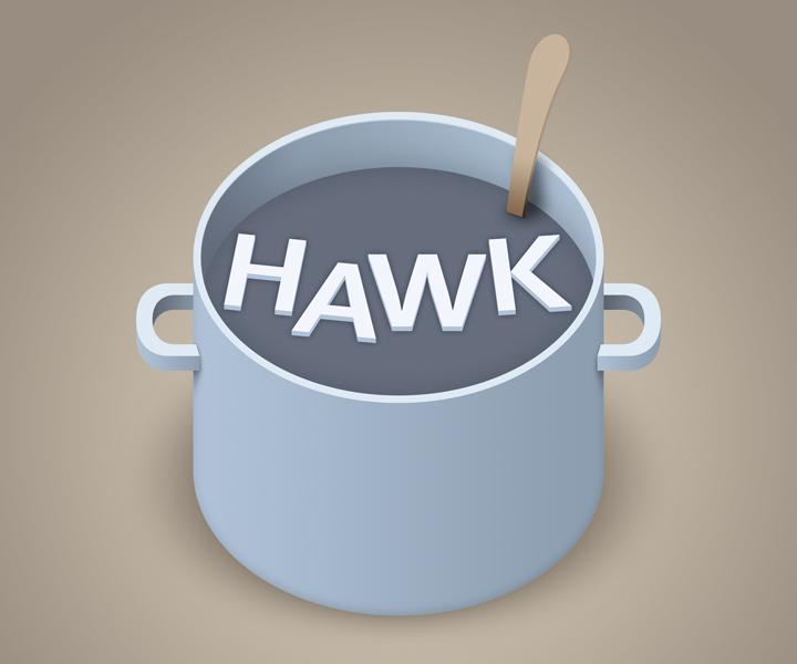 HAWK fliegt Logo-Entwurf - Kochtopf