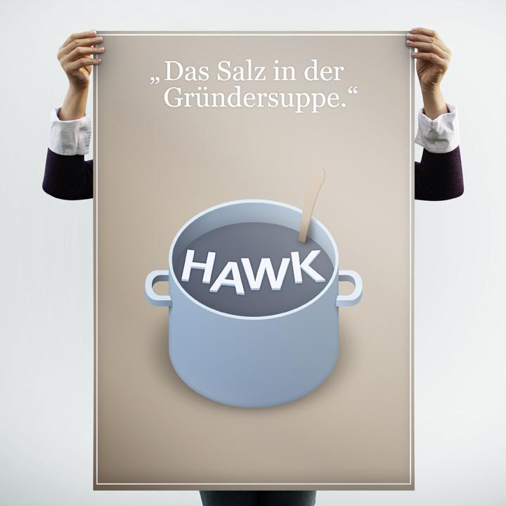 HAWK fliegt Plakat-Entwurf - Kochtopf