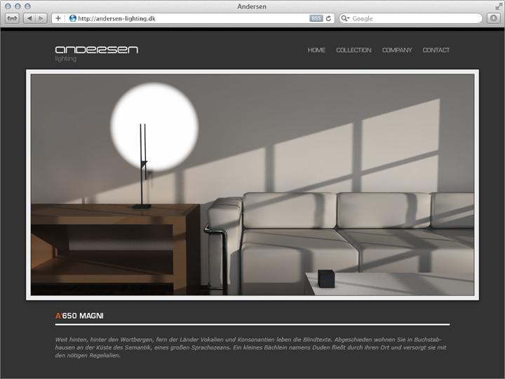Entwurf für die Unternehmens-Website 4