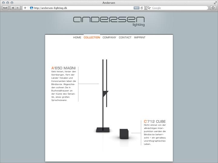 Entwurf für die Unternehmens-Website 1
