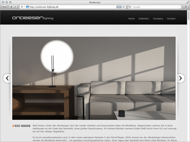 Entwurf für die Unternehmens-Website 3
