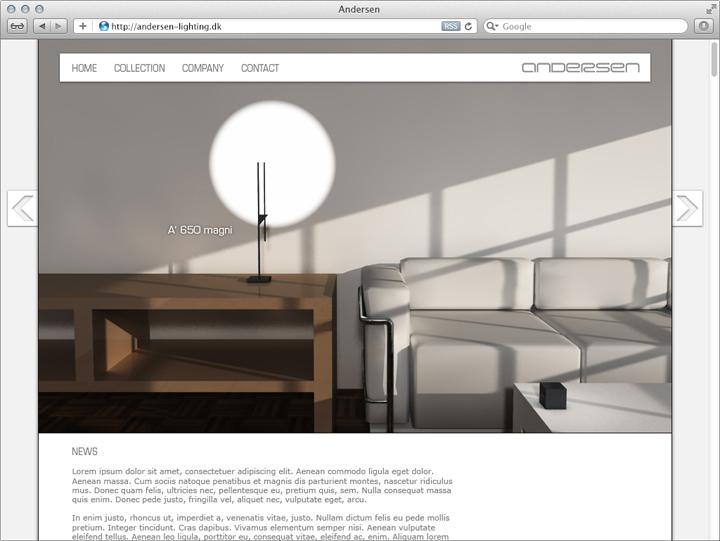 Entwurf für die Unternehmens-Website 2