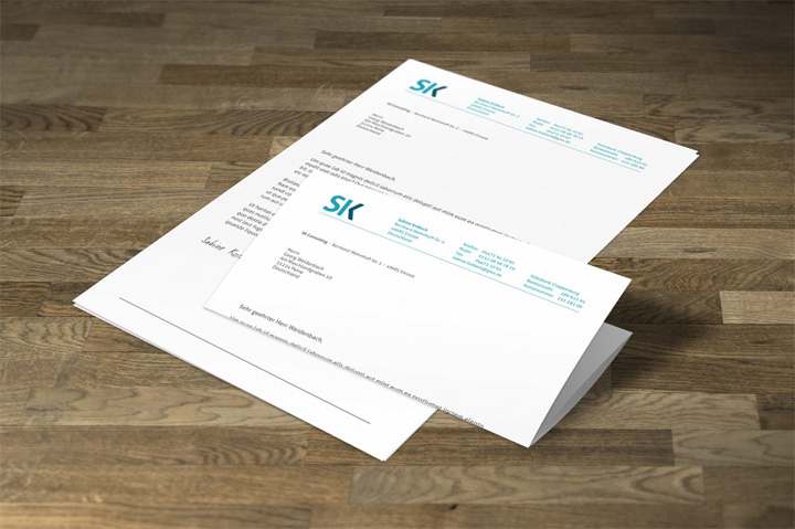 SK Consulting Briefpapier