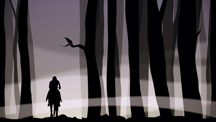 Standbild des Animationsfilms 'Der Erlkönig' - Bild 1