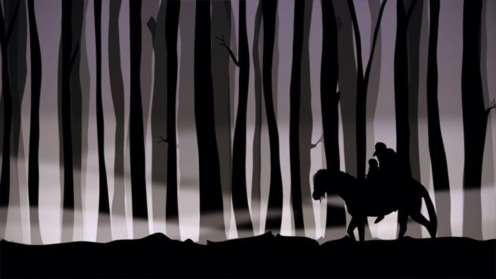 Standbild des Animationsfilms 'Der Erlkönig' - Bild 2